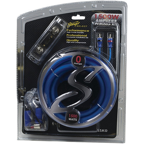 Stinger SSK0 Select Wiring Kit with Ultra-Flexible Copper-Clad Aluminum Cables (