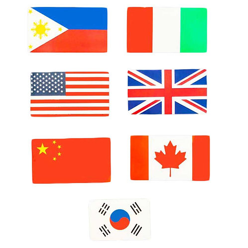 14 Pcs National Flag Stickers Vinyl Waterproof Decals Stickers Decoration for Lu
