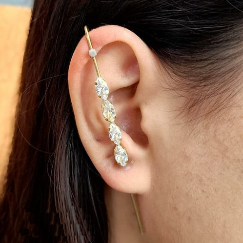 Brincos Ear Pin Quatro Navetes (PAR)