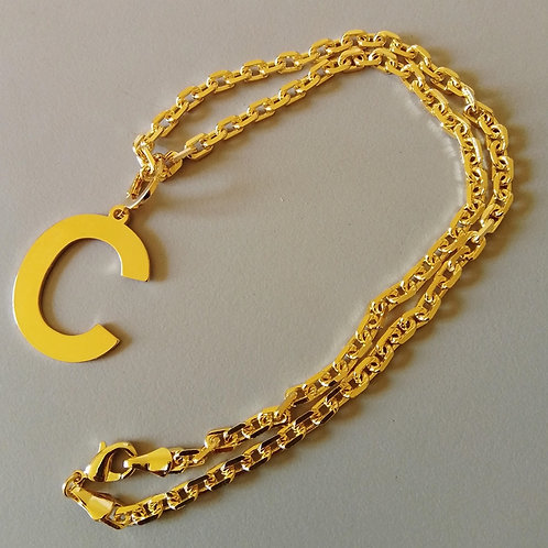 Colar GOLD com Letra