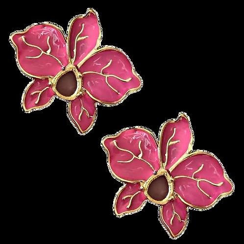 Brincos esmaltados Flor