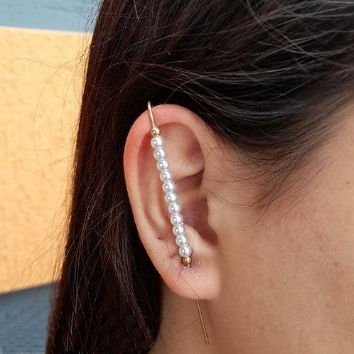 Brincos Ear Pin Pérolas (PAR)