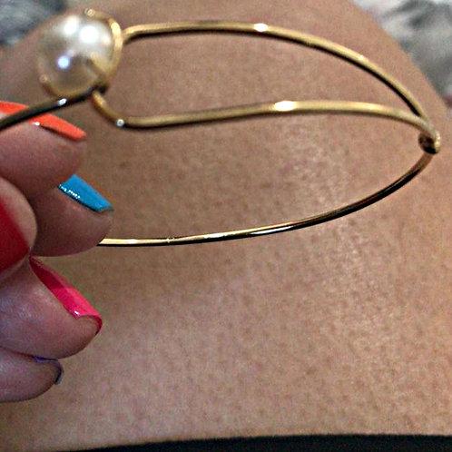 Bracelete Pérola Fio Ajustável