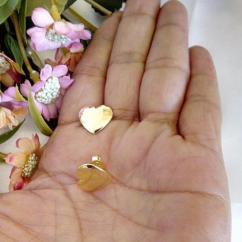 Brincos Pequenos Coração Chapinha