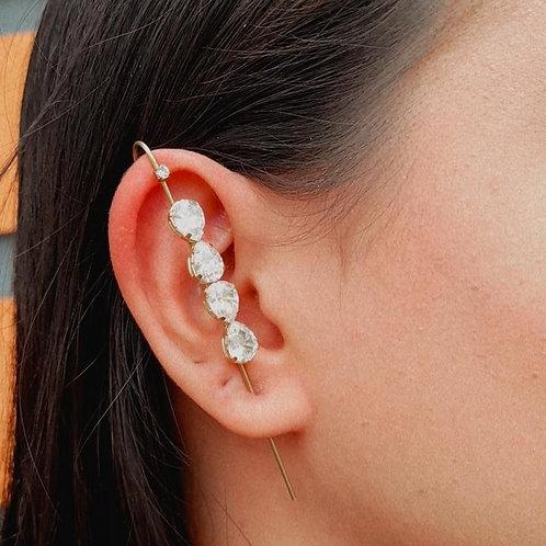 Brinco Ear Pin Pedras (UNITÁRIO)