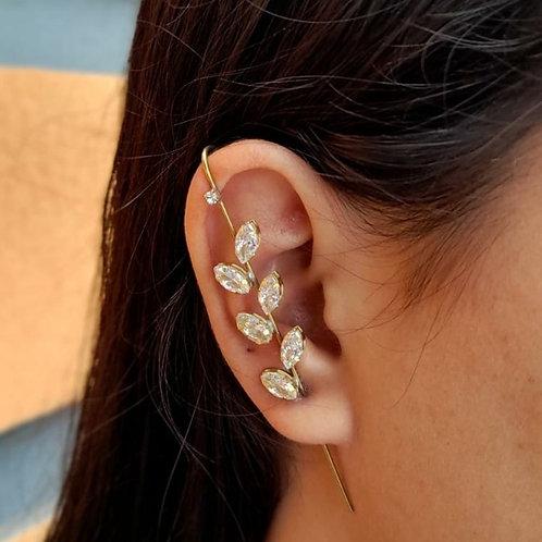 Brincos Ear Pin Folhas (PAR)