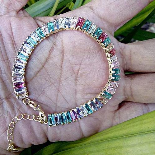 Pulseira Pedras Multicoloridas