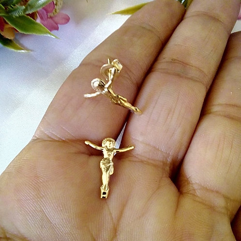 Brincos Pequenos Cristo Crucificado