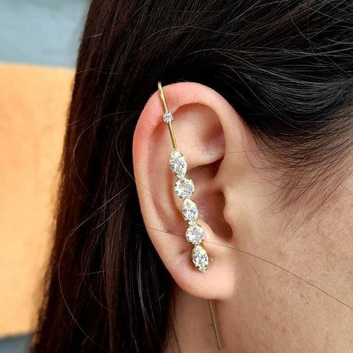 Brincos Ear Pin Navetes (PAR)