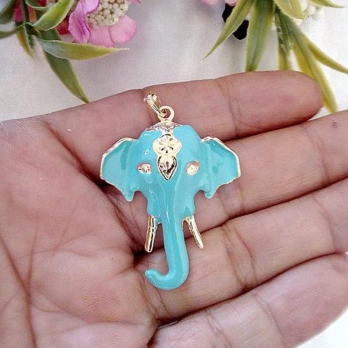 Pingente Resinado Elefante Indiano