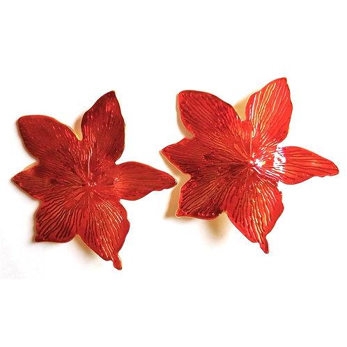 Brincos Flor Resinados Banhados com Garantia