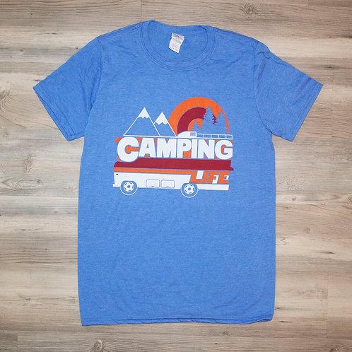 Camping Life T-Shirt Blue
