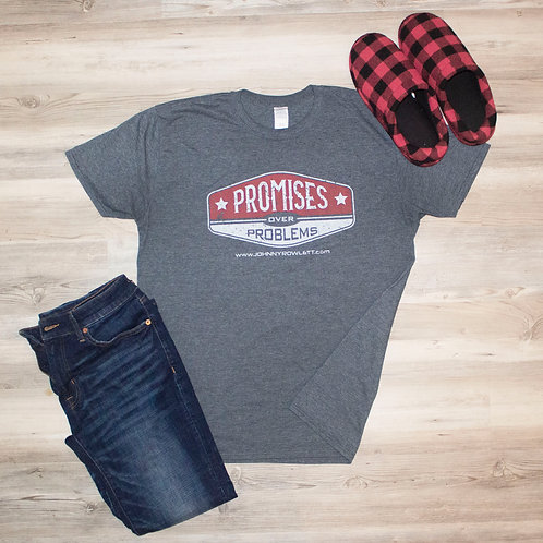 Promises Over Problems T-Shirt Gray