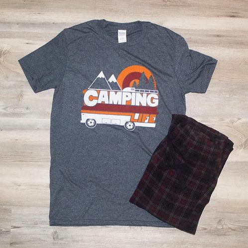 Camping Life T-Shirt Gray