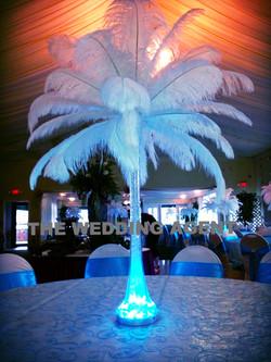 Plume In Crystal Vase w/LED