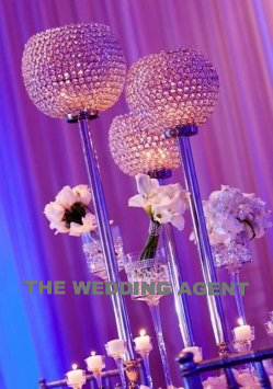 "GORGEOUS 36"" Crystal Globes"