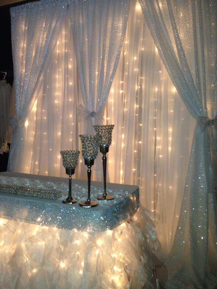Starlight/Sequin Double Backdrop