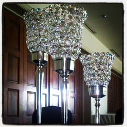 Tiered Crystal Goblet Centerpiece
