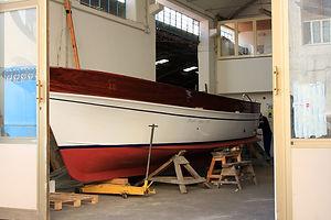 Segelboot-Wartung