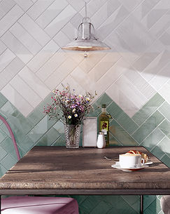 ceramic wall tile, geoetric patterns and vivid colors