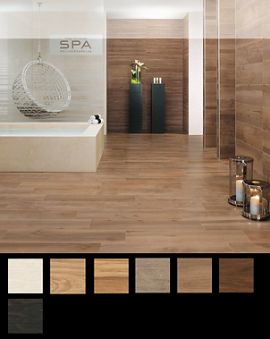 Etic. A collection that is a faithful reinterpretation of seven fine wood essences, each with its own tradition, look and charm. Etic is a full-body coloured porcelain stoneware collection that brings the natural fascination of wood to contemporary venues