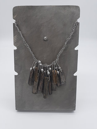 Fringe Necklace Earth Tones