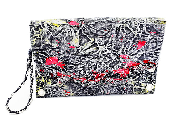 Melted Fabric Envelope Clutch 2