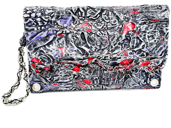 Melted Fabric Envelope Clutch 3