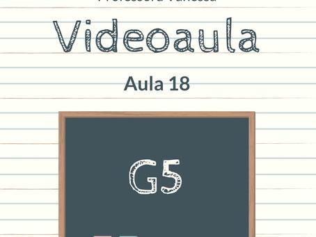 Videoaula 18 G5 Educação Infantil