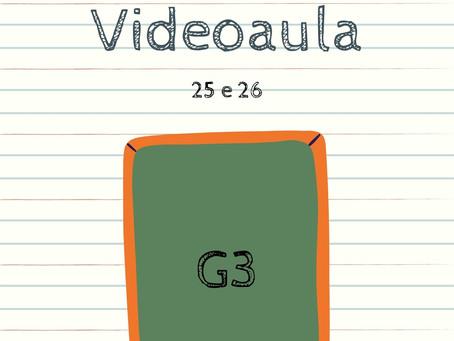 Videoaula 25 e 26 G3 Educação Infantil