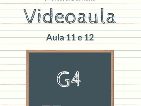 Videoaula 11 e 12 G4 Educação Infantil