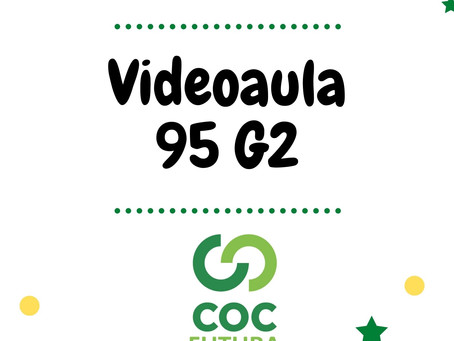 Videoaula 95 G2 Educação Infantil
