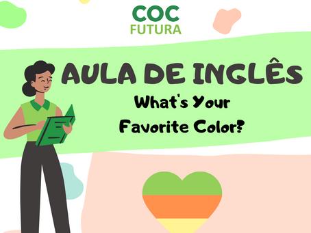 Qual sua cor favorita em Inglês? Educação Infantil