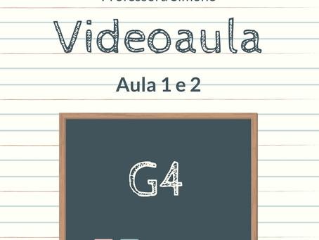 Videoaula 1 e 2 G4 Educação Infantil