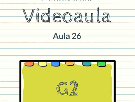 Videoaula 26 G2 Educação Infantil