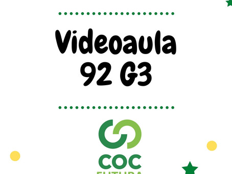 Videoaula 92 G3 Educação Infantil