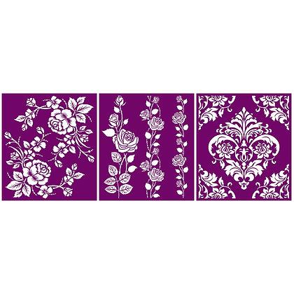 Silk Screen Stencil - Roses