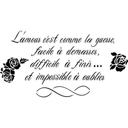 Dixie Belle Stencil - Script d'amour Francais