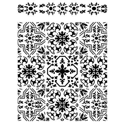 Dixie Belle Stencil - Tiles