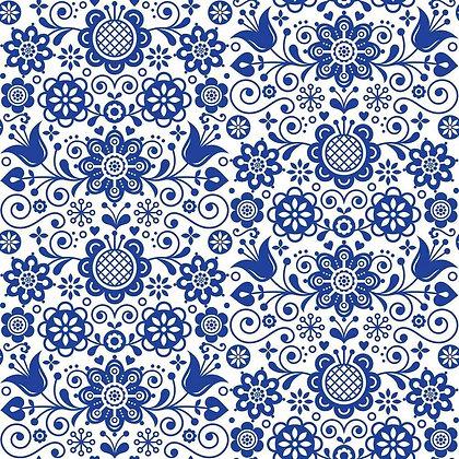 DB Rice Paper - Blue Glass Ornate