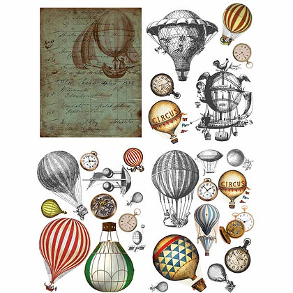 DB Transfer - Hot Air Balloons & Clocks