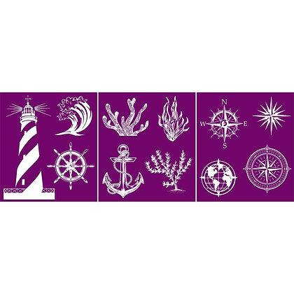 Silk Screen Stencil - Nautical