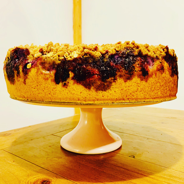 Spiced Apple and Blackberry Crumble Cake