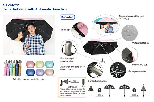 SA-19-211 Twin Umbrella with Automatic Function