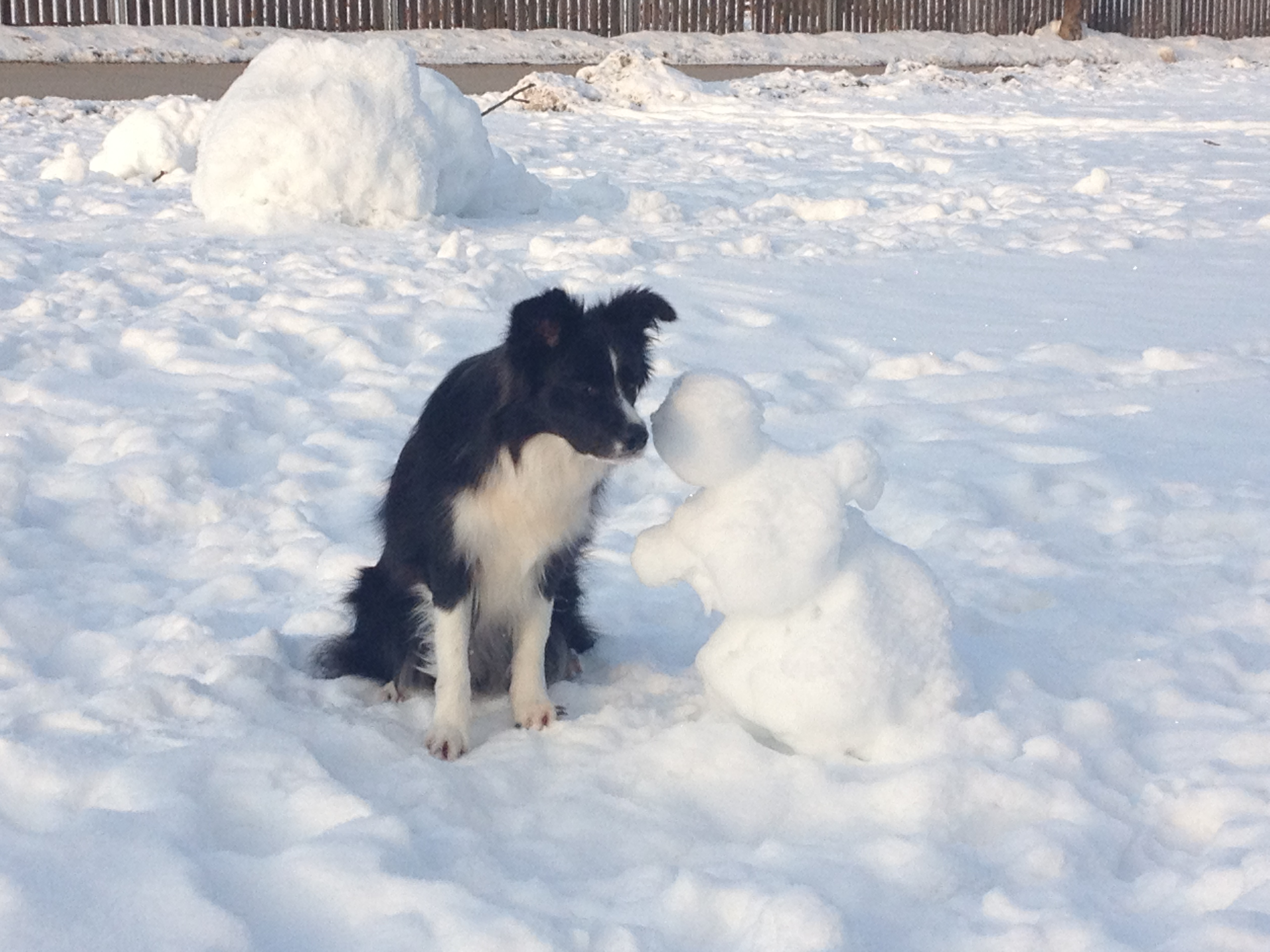 Lucy and the Snowman.