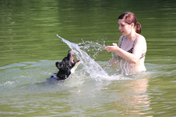 She loves water games ;)