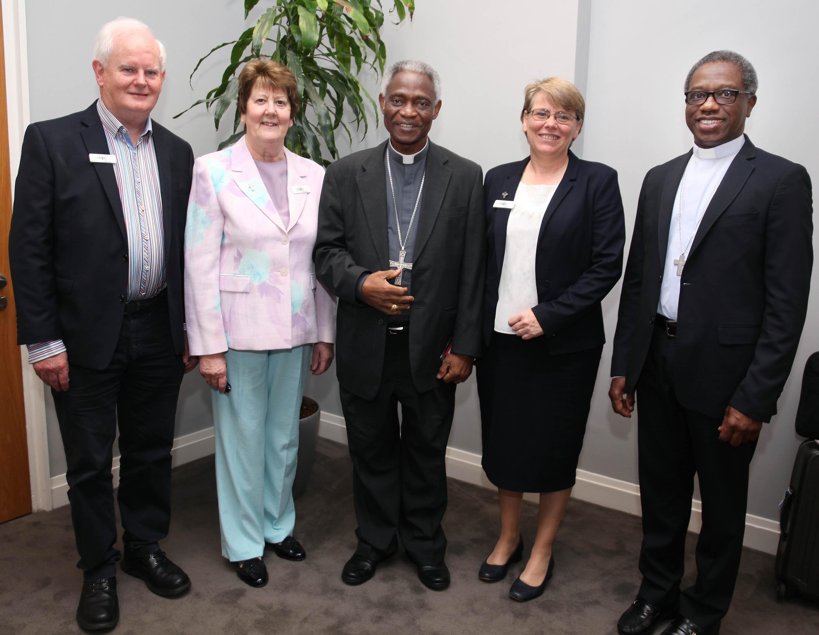 Fr Tom O'Connor, Sr Liz Murphy, Cardinal