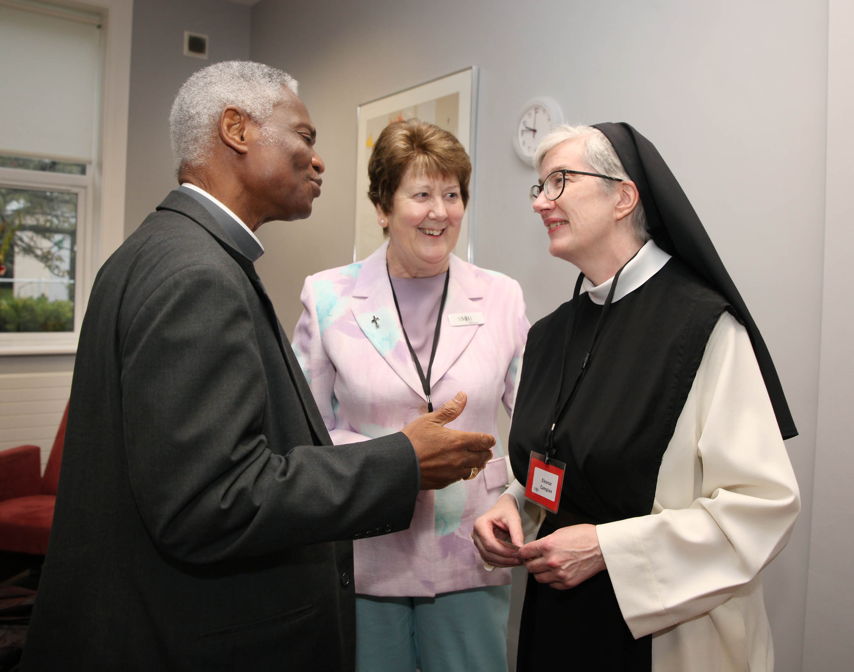 Cardinal Turkson with Sr Liz Murphy and