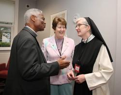 Cardinal Turkson with Sr Liz Murphy and