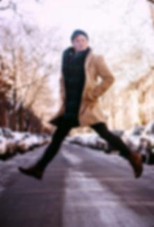 Charlie jumping.